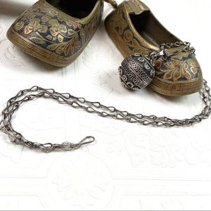 Jewelry - Antique Hand Made Sterling Bell Pendant With Chain